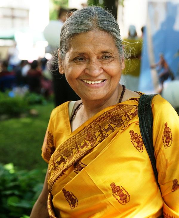 Криша Рой общественный деятель,  организатор мероприятий, посвященных индийской культуре и традициям Праздник в Культурном Центре им. Джавахарлала Неру.  31 мая 2014 г.
