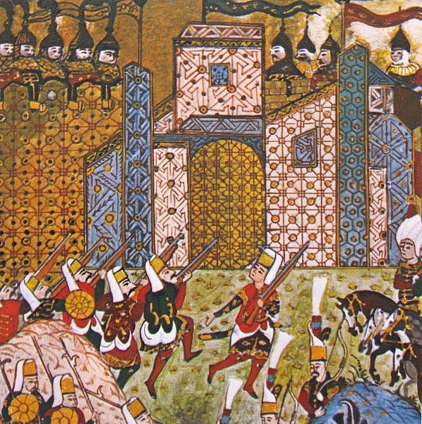 Янычары Османской империи  во время осады Родоса