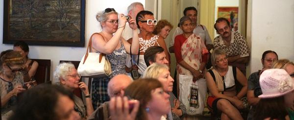 Открытие выставки в Музее Марины Цветаевой Среди гостей Ольга Пуреховская, Марина Лейзгольд