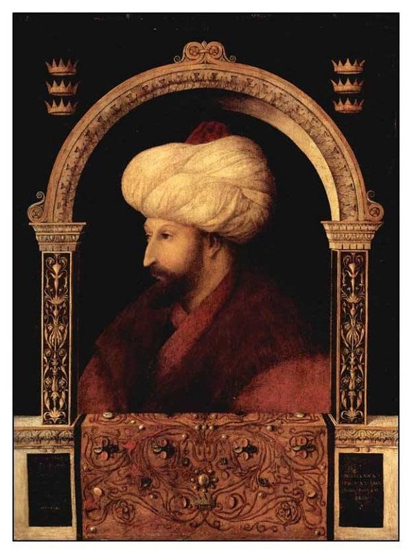 Джентиле Беллини Портрет Султана Мехмета холст, масло 1480 г.  69,9 × 52,1 Национальная портретная галерея, Лондон