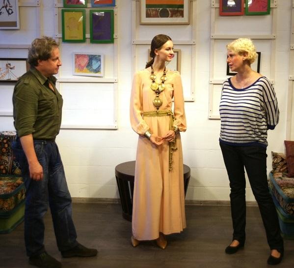 Вилли Мельников София Загряжская Анна Медалье На выставке Анны Медалье «Любовь. Вдохновение. Образ» в Студии дизайна «BriArt»