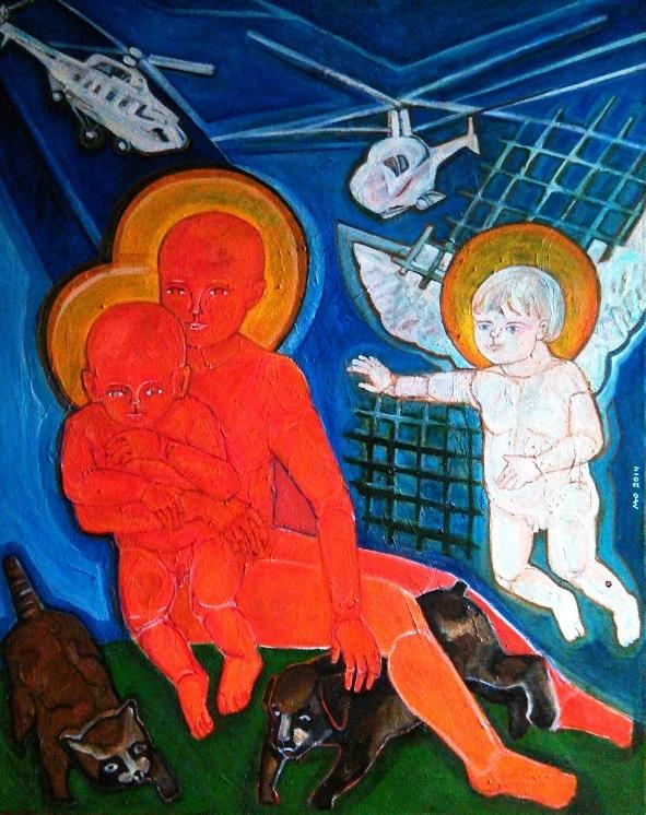 """Маргарита Юркова """"Новороссия"""" Художники призваны отражать красоту мира, но также отзываться в своем творчестве на происходящие события.  Художники -- послы мира, которые своими сюжетами не только приумножают прекрасное, но служат добру, милосердию, мудрости."""