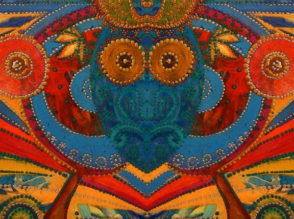 """Александра Загряжская """"Африка"""" серия  """"Сакральная геометрия"""" смешанная техника 2014 г."""