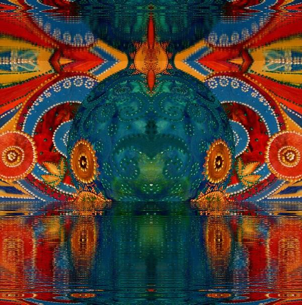 """Александра Загряжская """"Рыба-Кит"""" серия  """"Сакральная геометрия"""" смешанная техника 2014 г."""