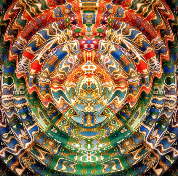Александра Загряжская. Священная геометрия. Рисунок 6. Волна. Авторский принт.