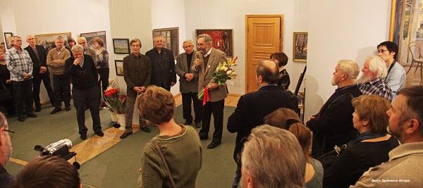 Открытие выставки Сергея Смирнова в галерее  Товарищества живописцев фото: Игорь Дремин