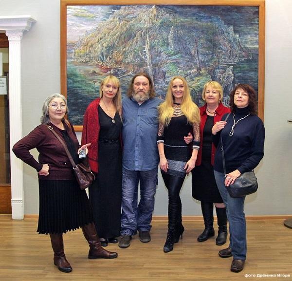 МОСХ, Александр Москвитин с гостями вернисажа