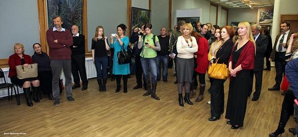 Юбилейная выставка художника  Александра Москвитина  в МОСХ Беговая, 7-9 17 декабря, 2014 г. Фото: Игорь Дрёмин