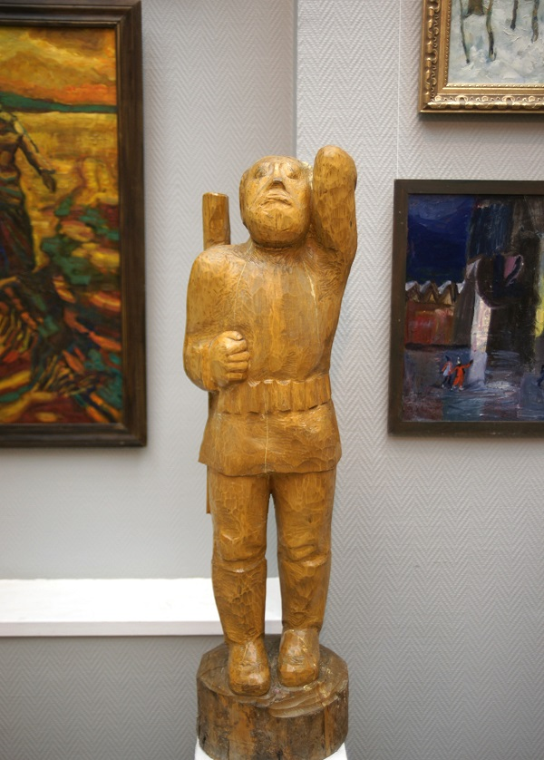 """А.Д. Рябичев """"Охотник"""" 1987 г.  дерево"""