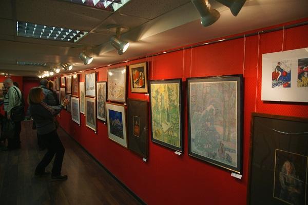 Выставочный зал МОСХ  на Беговой, 7-9 Рождественская Выставка 25 декабря 2014 г.