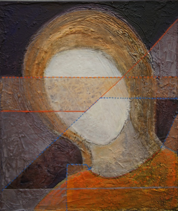 Е.Г. Болотских Портрет (фрагмент) 2013 г.  холст, масло