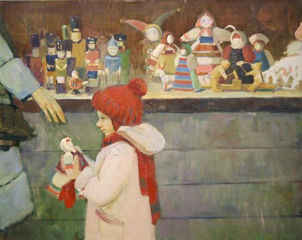 """Ю.А. Ващенко """"Подарок"""" 2013 г.  холст, масло"""