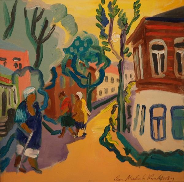 """Ольга Мотовилова-Комова """"Солнце на дереве"""" холст, масло 2008 г."""