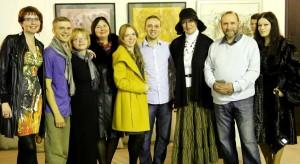 Участники мероприятия в Мастерской Рябичевых Выставка Майи Гусариной