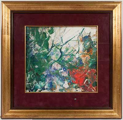 ЗВЕРЕВ  Анатолий Тимофеевич  (1931–1986)  Пейзаж.  1966 г.  картон, масло 27,5х30