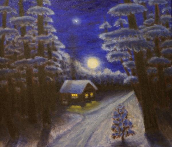 """А.В. Щекутьев """"Ночь перед Рождеством"""" холст, масло 2011 г."""