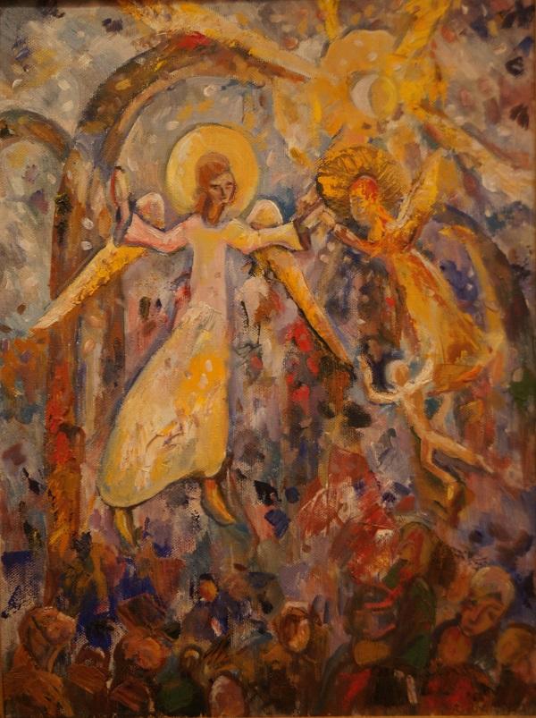 """В.М. Багина """"Архангел Иофил"""" 2004 г.  холст, масло"""