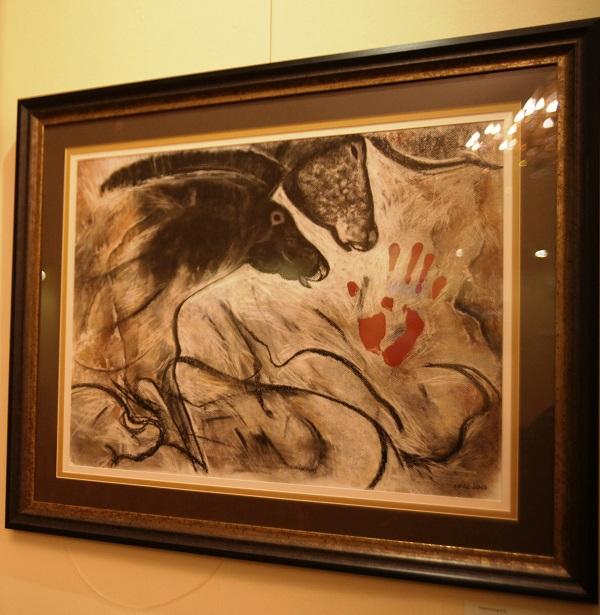 """Е.А Никольская """"Лошадь Шове Возвращение из ледников Франции"""" тонированная бумага, пастель, сангина, соус"""