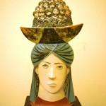 """Валерий Малолетков, """"Индийский базар"""", 1988 г. керамика, роспись"""