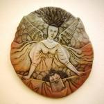 """Валерий Малолетков,  """"Крушение веры"""", 1996 г. керамика, роспись"""