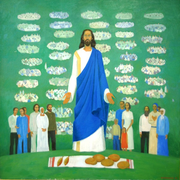 "Никита Кулинич ""Христос среди нас. Хлеб наш насущный"" холст, масло"