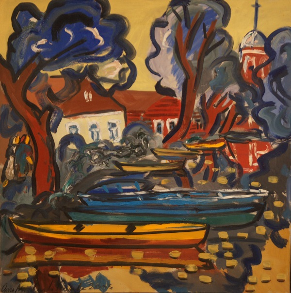 "Ольга Мотовилова-Комова ""Спокойная река"" холст, масло 2003 г."