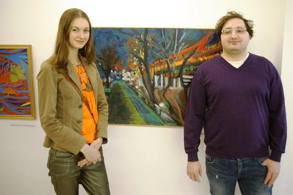 Участники выставки София Загряжская  Андрей Волков