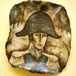 """Валерий Малолетков, Композиция """"1812"""",  1973 г. фаянс, роспись1812   1973 г. фаянс, роспись"""