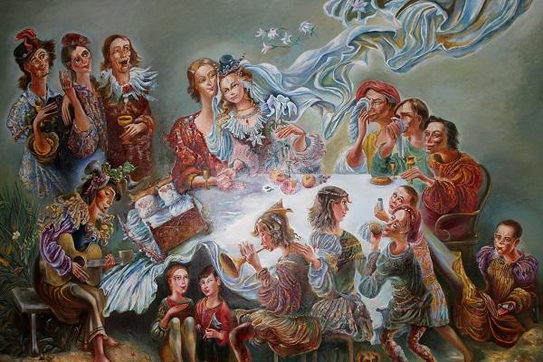 Легкий мир фантазий, счастливого настроения, грезы Картины Майи Гусариной рисуют фантастические, сказочные истории, но все они основаны на личных впечатлениях, прекрасных воспоминаниях и мечтах.