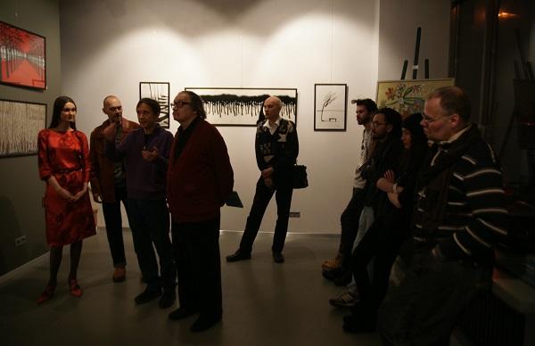 Александр Богатырев руководитель галереи  BRUSOV ART SPACE  открывает выставку  Константина Малютина