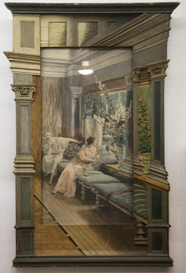 Фотография начала прошлого века раскрашенная акварелью рама продолжает сюжет снимка