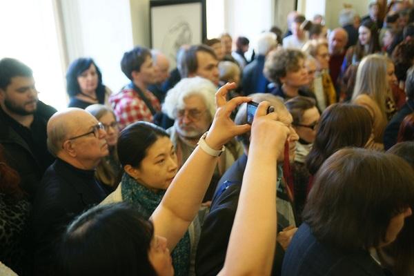 Открытие выставки  Александра Бурганова к 80-летию мастера 17 марта 2015 г.  Российская Академия художеств