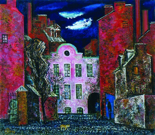 Никита Фомин. Розовый дом. 1993. х.,м. 75х80