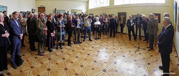 Открытие выставки  Николая Терещенко и Павла Тураева в Российской Академии художеств 21 апреля 2015 г. фото: Игорь Дрёмин
