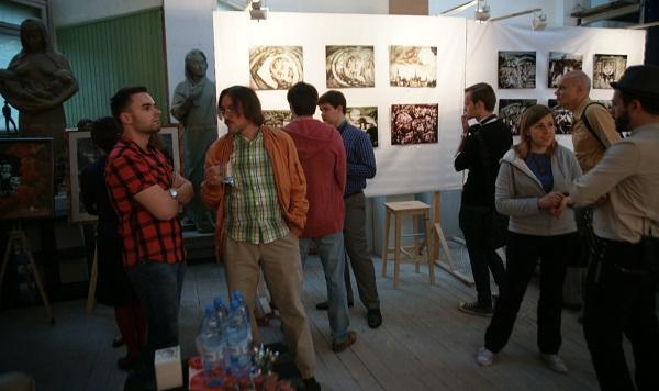 Открытие выставки Шеомира Гучепшоко  в Творческой Мастерской Рябичевых