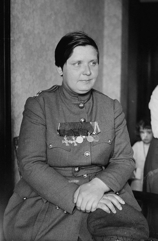 Мария Леонтьевна Бочкарёва на приёме у В. Вильсона, США  1918 год