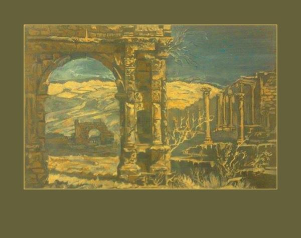 Босра.  После разделения Римской империи на западную и восточную, город перешёл под власть Византийской империи и был завоёван империей Сасанидов в начале седьмого века, окончательно город завоевало войско Арабского халифата под командованием Халида ибн Валида в Битве под Босрой в 634 году. В византийский период Босра играла важную роль в истории раннего Христианства и была резиденцией архиепископа. Рис. Даниэлы Рябичевой