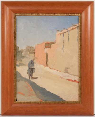 "Варшам Еремян (1897 -- 1963 гг..) ""Узбекистан. Улица"". этюд 1915 г."
