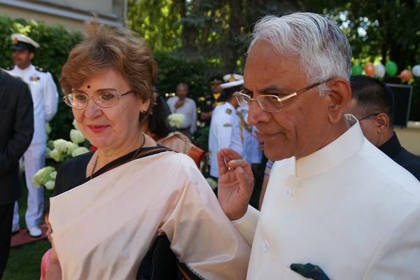 Господин Пунди Шринивасан Рагхаван Чрезвычайный и Полномочный Посол Республики Индия в Российской Федерации с супругой госпожой Барбарой Рагхаван