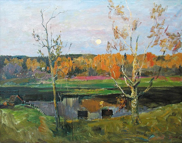 "Татьяна Горелова ""Осень"" холст, масло  90х100  1999 г."