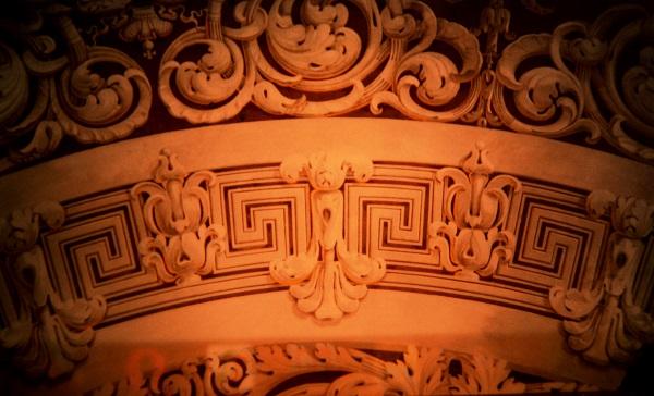 Фото из архива Александра Володина вид купола Круглого зала Петровского Путевого дворца до реставрации