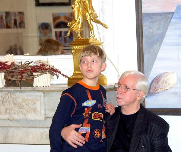 Виктор Федорович Орловский с внуком Филиппом (ныне студентом МАРХИ)