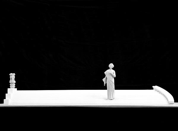 Дмитрий Рябичев Александр Рябичев макет памятника  Индире Ганди  в городе Бхубанишвар, штат Орриса