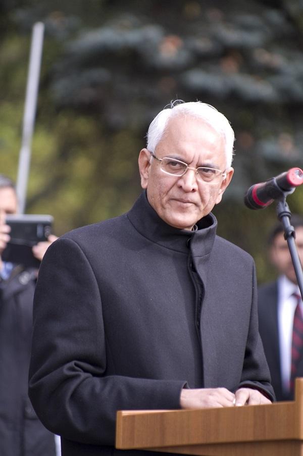 Посол Руспублики Индия в России господин Пунди Шринивасан Рагхаван  с супругой Барбарой Рагхаван. 2 октября 2015 год.