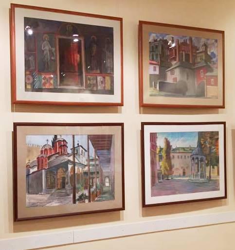 Картины  Василия Бубнова в выставочном зале МСХ Старосадский переулок, д 5