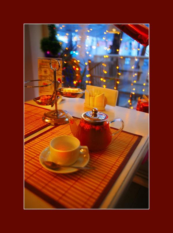 """Чай с облепихой в Ресторане-кафе  """"Сад"""" Фото: Арт-Релиз.РФ"""