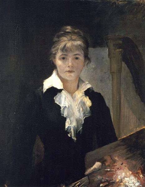 Художник  Мария Башкирцева Автопортрет  частное собрание 1880 г.