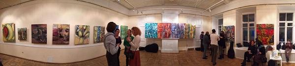 Картины  Омара Годинеса в выставочном зале МСХ Старосадский переулок, д 5