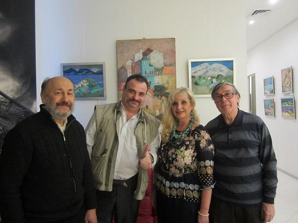 """Лариса Белима с коллегами и друзьями на выставке  """"La Bella Italia"""""""