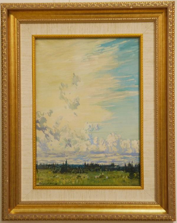 Даже небольшие по размеру работы художника Михаила Абакумова раскрывают перед зрителем целый мир, представляя величие природы, бесконечность неба, просторов земли, красоту и радость жизни.